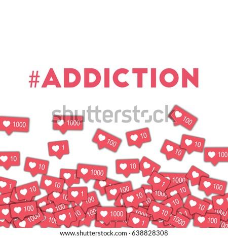 addiction social media icons