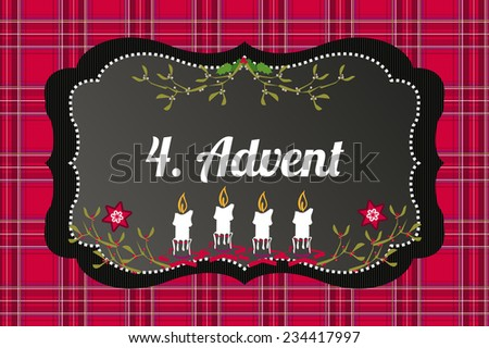 4  advent candles