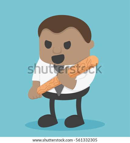 african businessman holding a