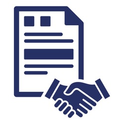 Agreement Isolated Vector Icon which can easily modify or edit