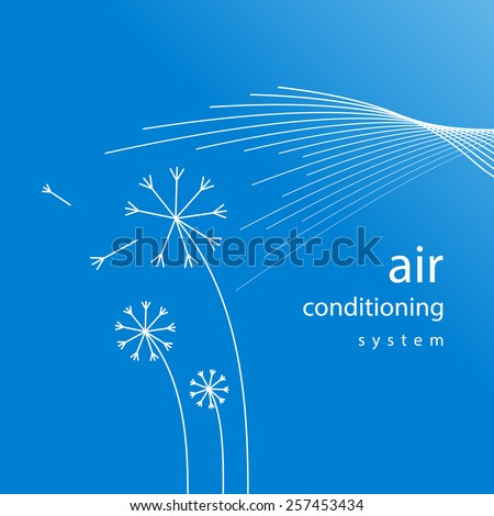 air conditioner - conditioning ventilation system abstract background