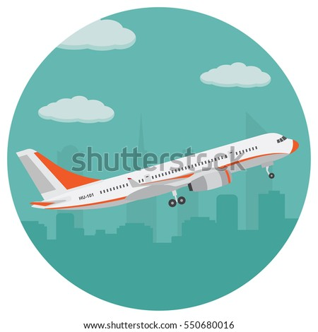 airplane on the background of