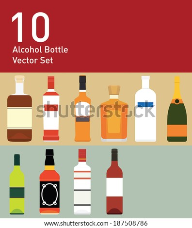 10 alcohol bottle