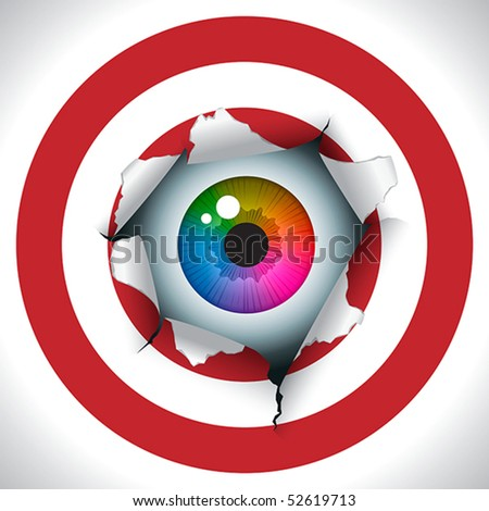 """""""Align the sights and bull's eye"""". Humorous illustration, concept"""