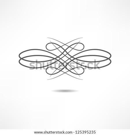 ??alligraphic design element
