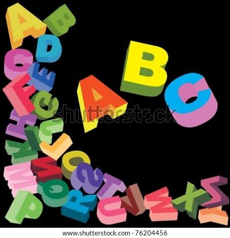 Alphabet  background for design, vector