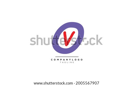 Alphabet OV , VO , O , V  initial Letter Monogram Icon Logo vector illustration  Stock fotó ©