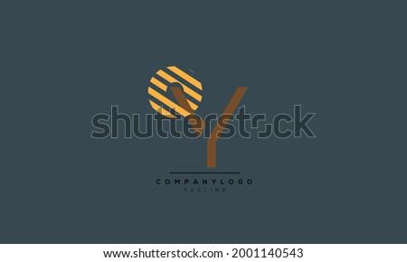Alphabet OY , YO , O , Y  initial Letter Monogram Icon Logo vector illustration  Stok fotoğraf ©