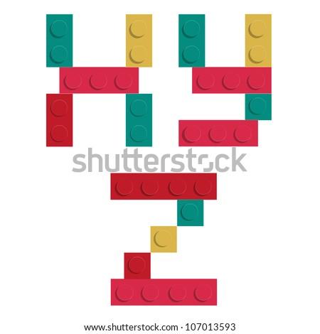alphabet set made of toy