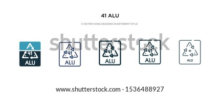 41 alu icon in different style