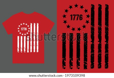 1776 American Flag T-shirt Vector Design, Betsy Ross Flag T-Shirt, Hoodie  Sweatshirt, Patriotic USA Flag shirt,  Political T-shirt - Retro Flag shirt - 1776 shirt