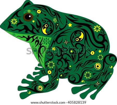 amphibious sits  an animal