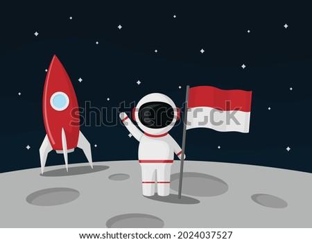 an astronaut raises the