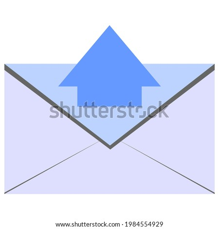 An illustration depicting outgoing messages, outgoing message symbols, outgoing message images.