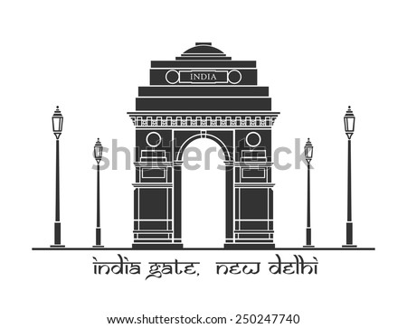 an illustration of india gate