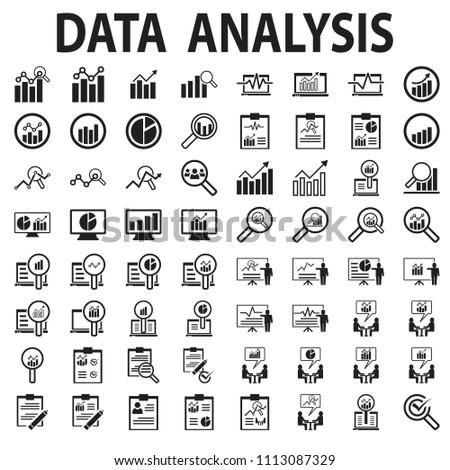 Analysis data icon vector swot illustration mono symbol.