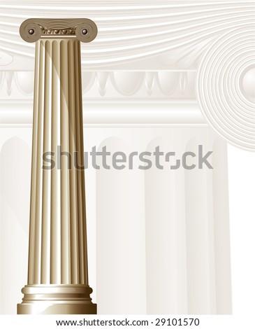 Ancient Columns. Vector.