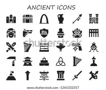 ancient icon set 30 filled