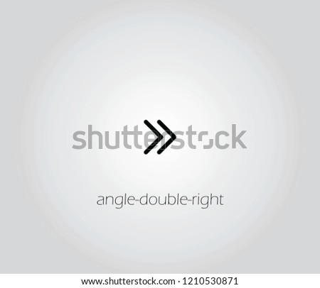 angle-double-right icon vector