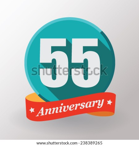 55 anniversary  label with...