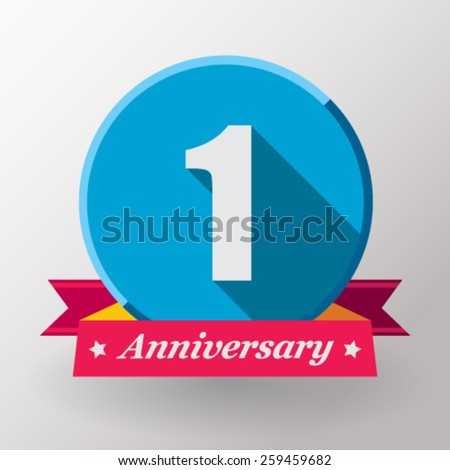 1 anniversary   label with...