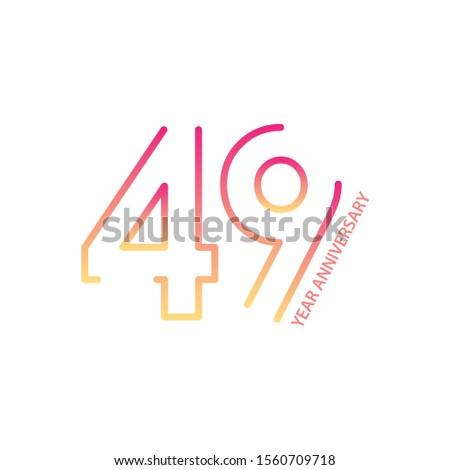 49 anniversary logotype with