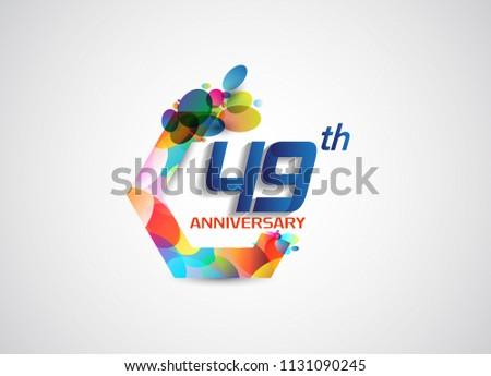 49 anniversary modern design