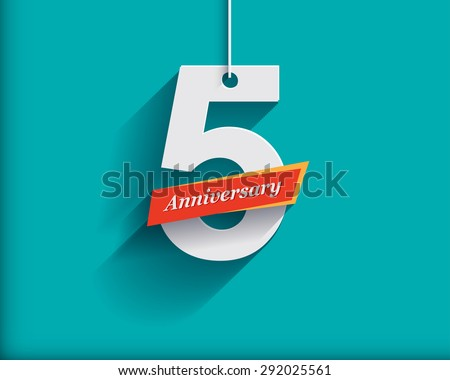 5 anniversary numbers with