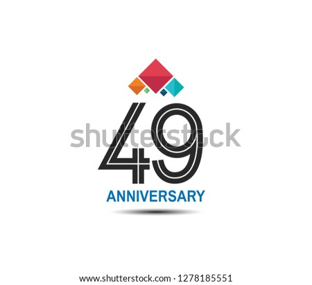 49 anniversary with colorful