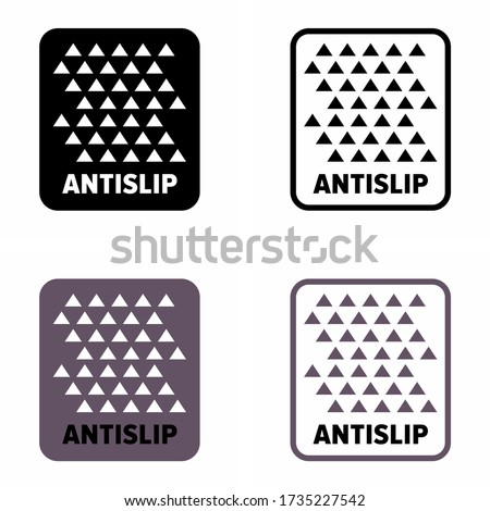 'Anti-slip' easy to grip coating information sign Stock photo ©