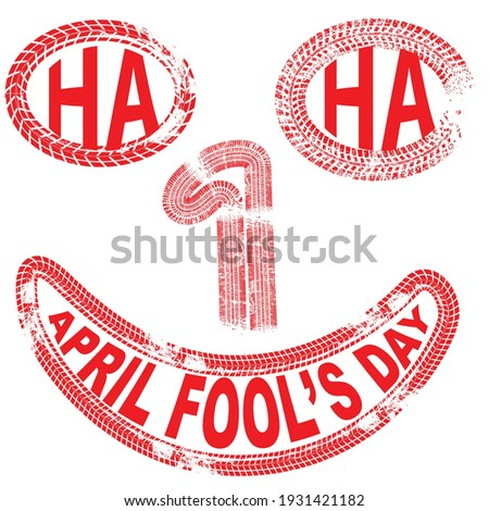 1 april fool's day vector