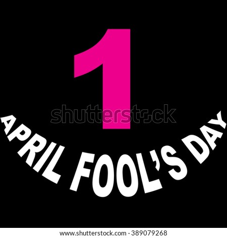 1 april fool's day vector icon