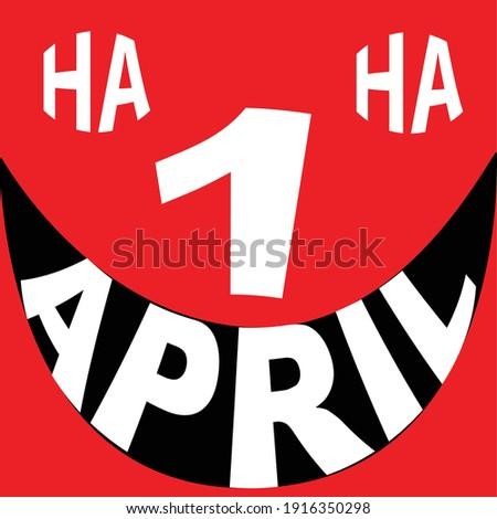 1 april fool's day vector icon