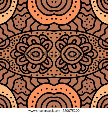 Arabic hand-drawn seamless pink pattern. Texture for web, print, wallpaper, home decor, summer fall fashion textile, fabric, ceramic tile