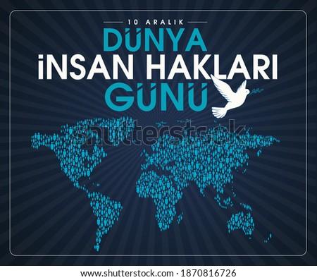 10 aralık dünya insan hakları günü Translation: 10 december international human rights day. Stok fotoğraf ©