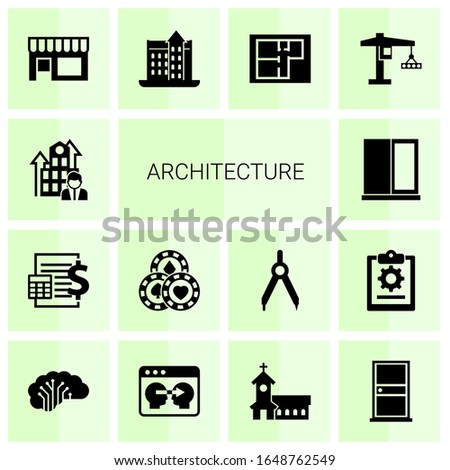 14 architecture filled icons
