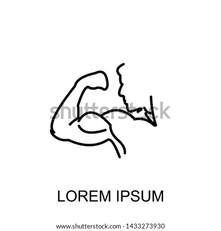 arm, bicep, strong hand icon cartoon .vector ilustration