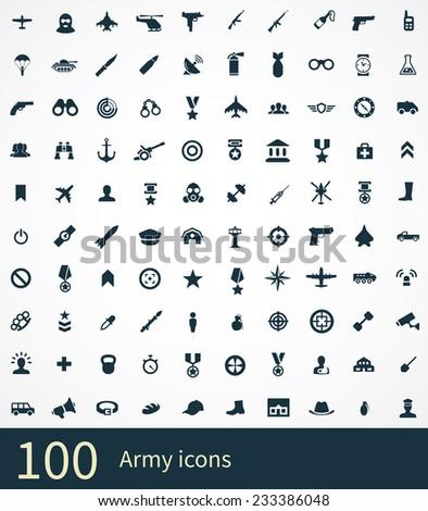 100 army icon on white