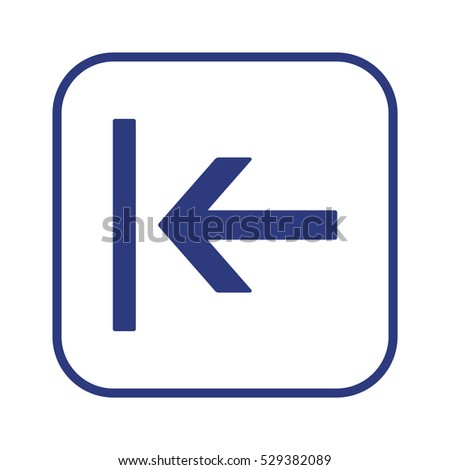 Arrow  icon,vector. Flat design.