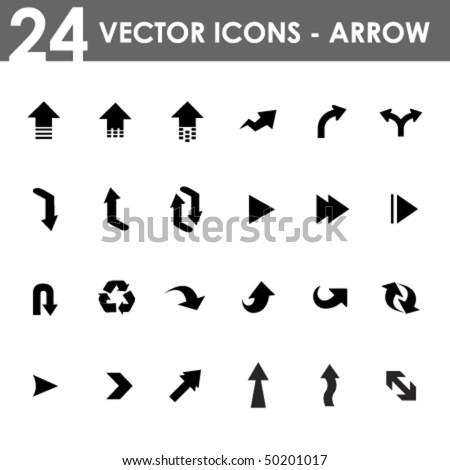 24 arrow icons