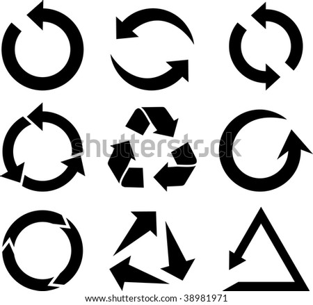 Arrows icon collection. Vector illustration.