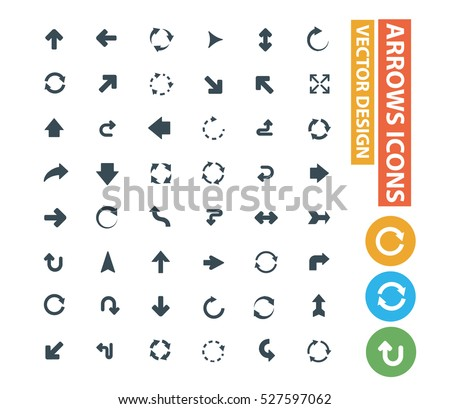 Arrows icons design,clean vector