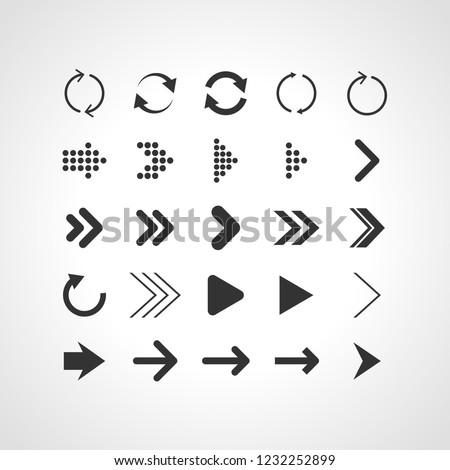 arrows signs symbols button #1232252899
