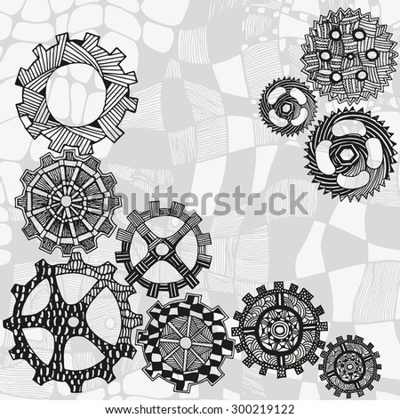 artistically gears pattern
