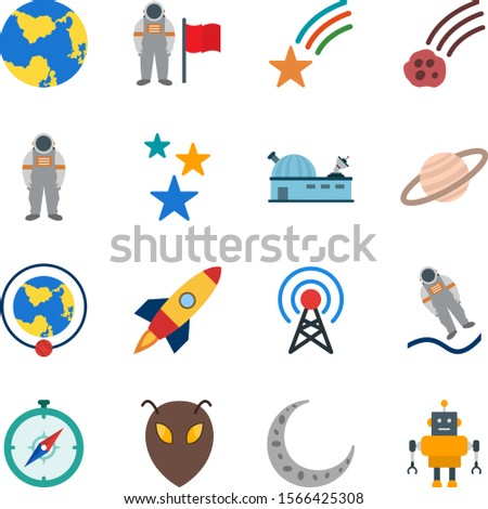 16 astronomy Icons For Personal And Commercial Use...