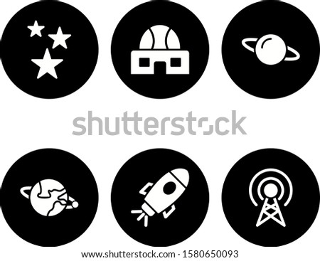 6 astronomy Icons For Personal And Commercial Use...