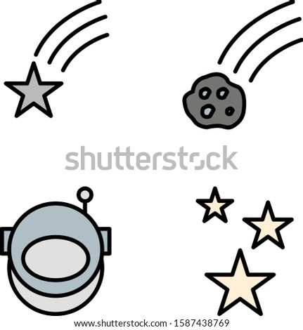 4 astronomy Icons For Personal And Commercial Use...