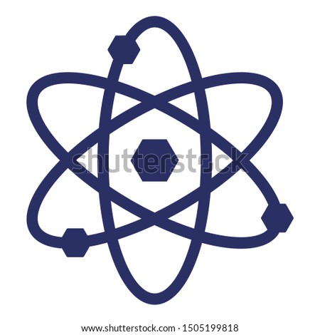 Atom, atom bond isolated Vector Icon which can easily modify or edit
