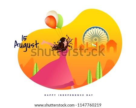15 august celebration concept
