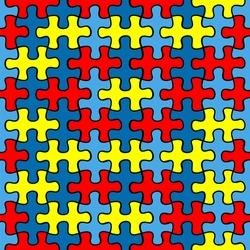 Autism Awareness puzzle seamless pattern